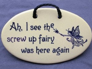Ah, I See The Screw Up Fairy Was Here Again.