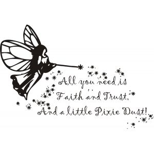 All You Need Is Faith And Trust, And A Little Pixie Dust.