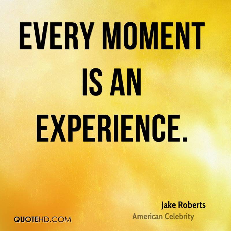 essay on every moment is an experience