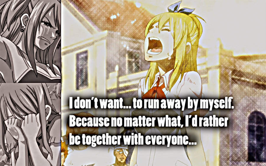 I Don't Want To Run Away By Myself, Because No Matter What, I'd Rather Be Together With Everyone.