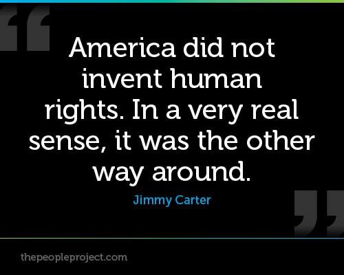 Jimmy Carter Human Rights Quotes Quotesgram