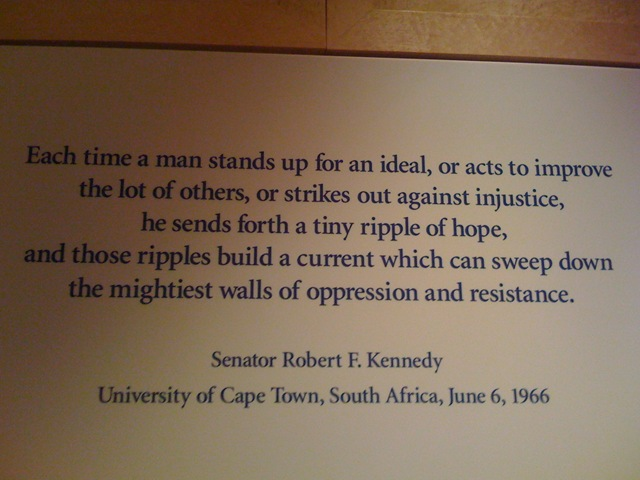 Each Time A Man Stands Up For An Ideal, Or Acts To Improve The Lot Of Others, Or Strikes Out Against Injustice… - Robert F. Kennedy