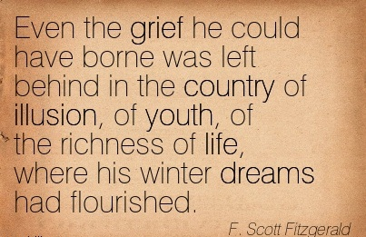 Even The Grief He Could Have Borne Was Left Behind In The Country