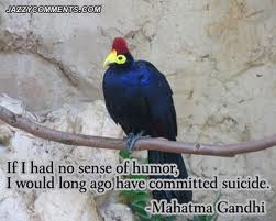 If I Had No Sense Of Humor, I Would Long Ago Have Committed Suicide. - Mahatma Gandhi