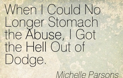 stomach the abuse i got the hell out of dodge michelle parsons. Cars Review. Best American Auto & Cars Review
