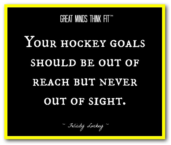 Your Hockey Goals Should Be Out Of Reach But Never Out Of Sight.