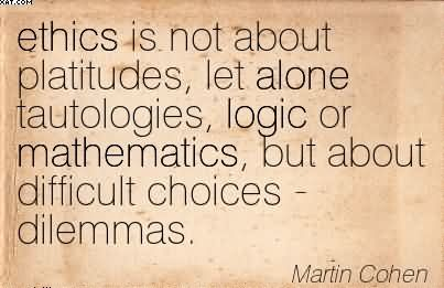 ethical dilemmas martin cohen 101 ethical dilemmas by martin cohen, 9780415404006, available at book depository with free delivery worldwide.