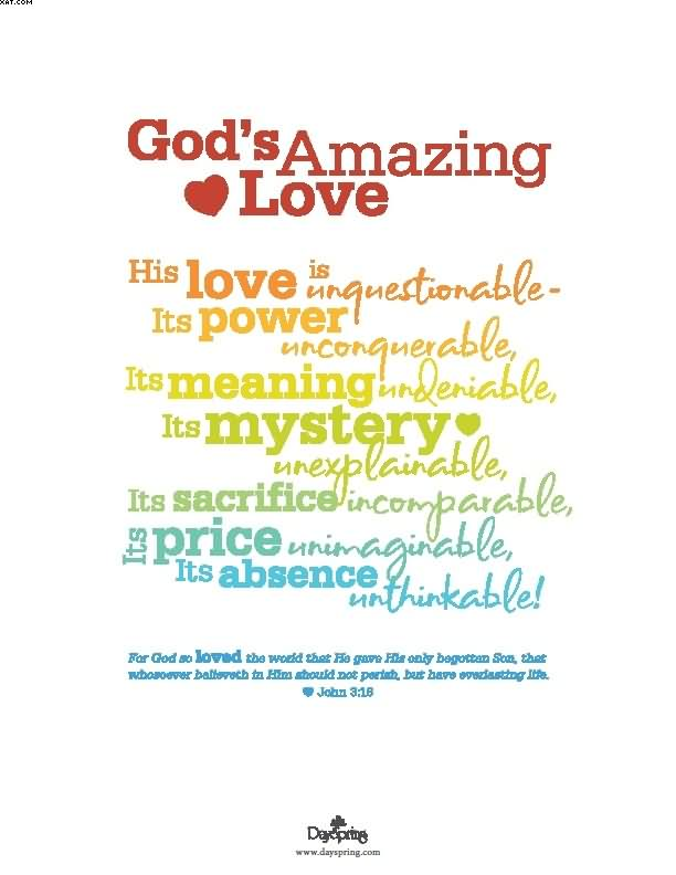 Gods Amazing Love Quotes. QuotesGram