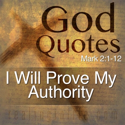 I Will Prove My Authority.