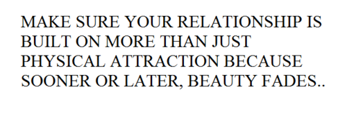 No physical attraction in a relationship