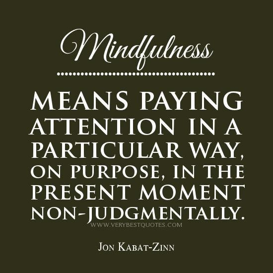 Mindfulness Means Paying Attention In A Particular Way, On Purpose, In The Present Moment Non-Judgmentally. - Jon Kabat-Zinn