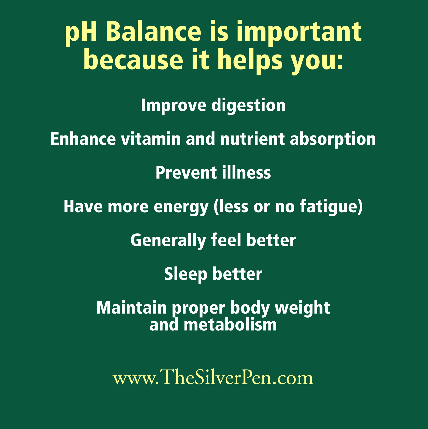 pH Balance Is Important Because It Helps You..