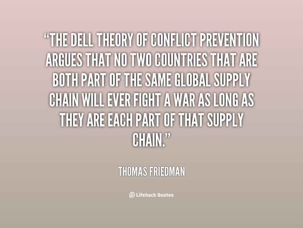 Talk:Dell Theory of Conflict Prevention