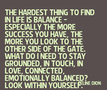 The Hardest Thing To Find In Life Is Balance..