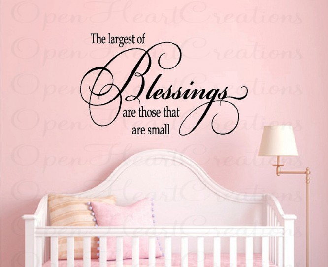 The Largest Of Blessings Are Those That Are Small.
