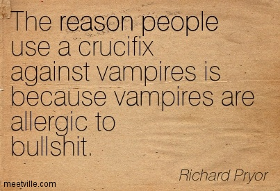 The Reason People Use A Crucifix Against Vampires Is Because