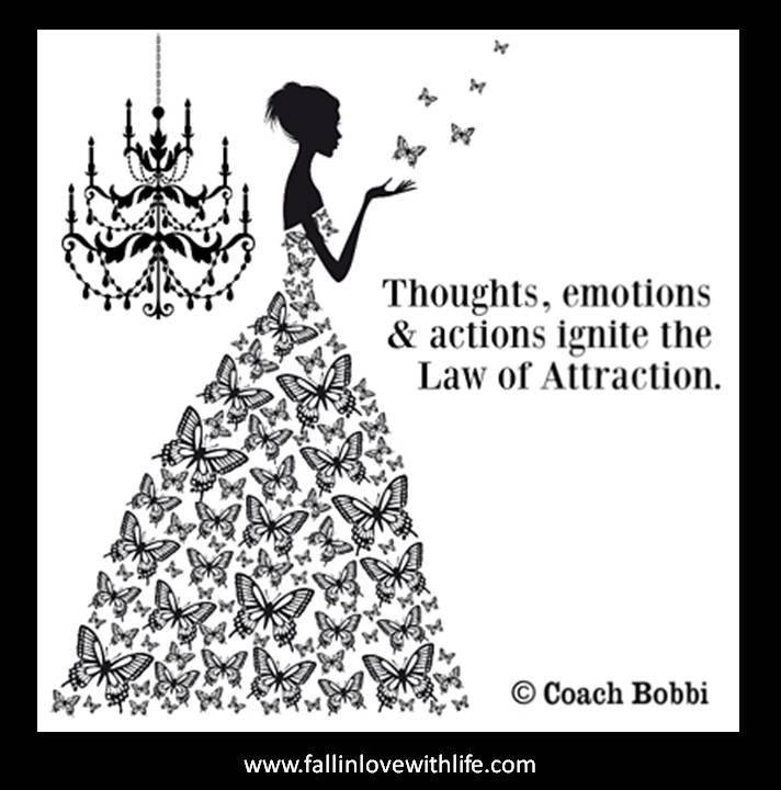 Thoughts, Emotions & Actions Ignite The Law Of Attraction.