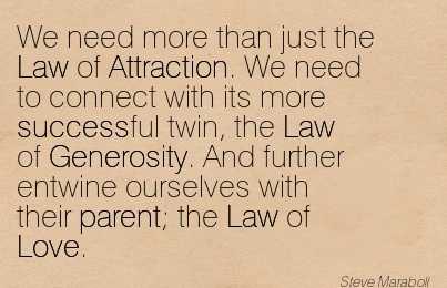 We Need More Than Just The Law Of Attraction… - Steve Maraboli