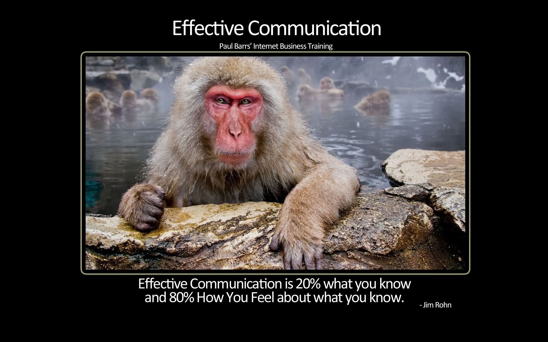 Effective Communication Is 20% What You Know And 80% How You Feel About What You Know. (3)