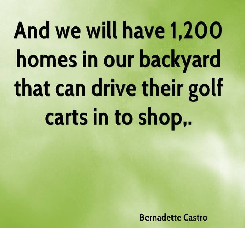 Quotes About Our Backyard : GOLF CARTS Quotes Like Success