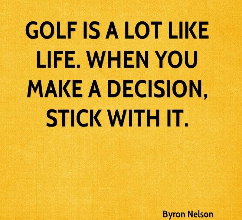 how to make a decision and stick with it
