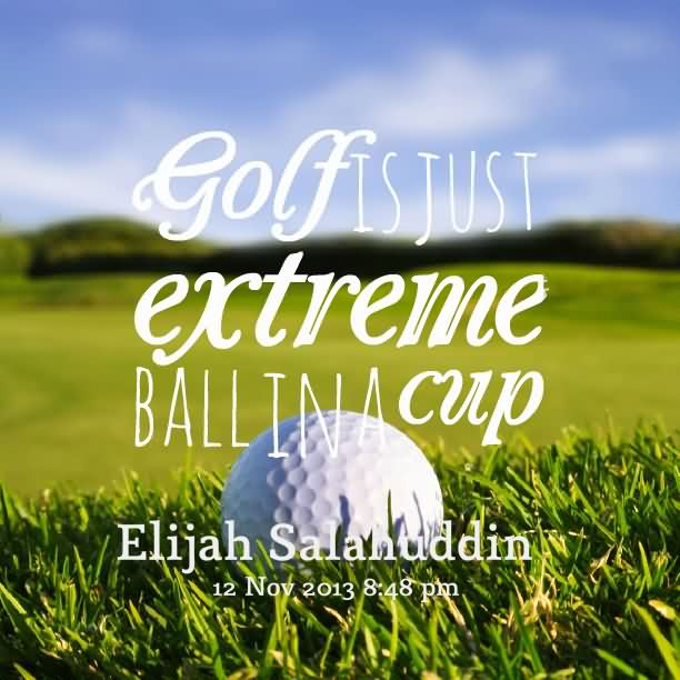 Golf Is Just Extreme Ball In A Cup.