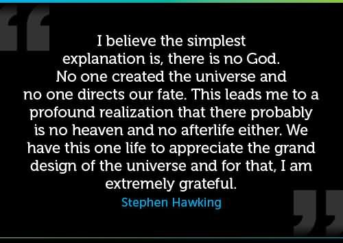 Stephen Hawking Quotes About God