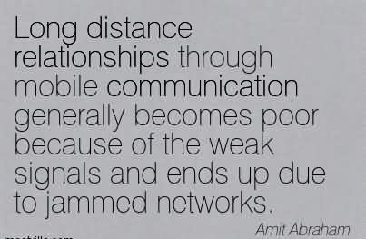 communication in a long distance relationship