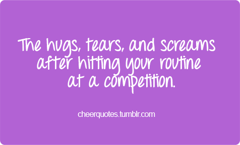 The Hugs, Tears, And Screams After Hitting Your Routine At A Competition.