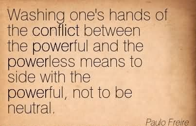 "conflict occurs between the powerful and powerless The importance of resolving conflict in  introduction ""conflict is a problematic situation that occurs between  conflict can be a very powerful tool."