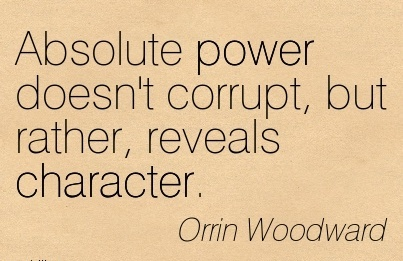 absolute power does not corrupt absolutely essay