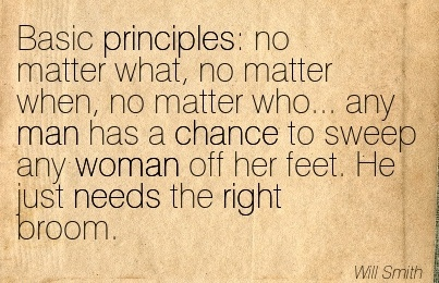 Sweep a woman off her feet