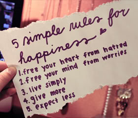 5 Simple Rules For Happiness Life - Cheating Quotes