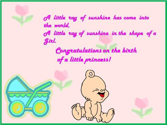 A Liitle Ray Of Sunshine HAs Come Into The World,….Congratulations On The Birth Of A Little Princess!!