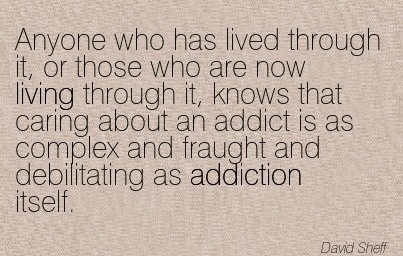 Anyone Who Has Llived Through It, Or Those Who Are Now Living Through It, Knows That Caring About An Addict Is As Complex And Fraught And Debilitating As Addiction Itself. - David Sheff