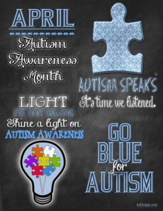 Autiam Awareness Month Light It Up Blue Shine A Light On Autism Awareness.