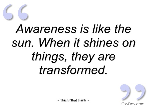 Awareness Is Like The Sun. When It Shines On things, They Are Transformed.