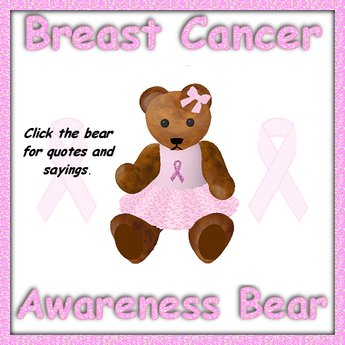 Breast Cancer Awareness Bear.
