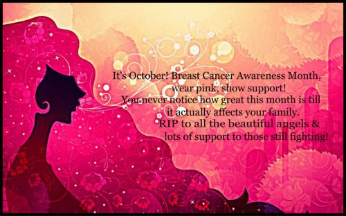 Breast Cancer Awareness Month, Wear Pink, Show Support!