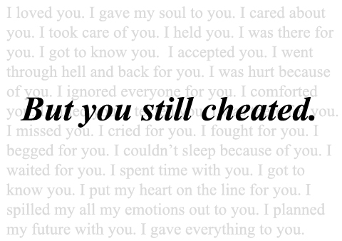 But You Still Cheated.