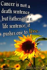 Cancer Is NOt A Death Sentence, But Rather It Is A Life Sentence; It Pushes One To Live. - Awareness Quotes