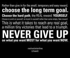 Choose The Long goal. Never Give Up. - Cheating Quotes
