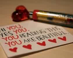 Cute Love Message Image-You are Beautiful