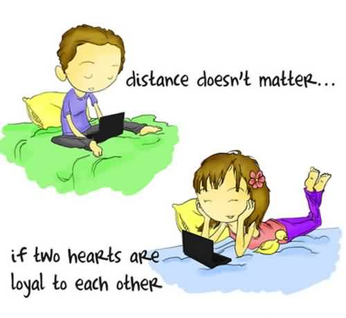Cute Love Quote-Distance does not matters