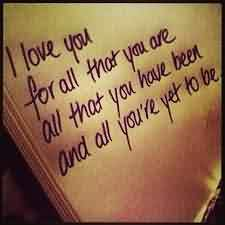 Cute Love Quote for him or her-I Love You