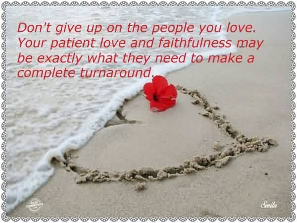 Cute Romantic Love Heart Quote Image-Love needs Patiences