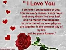Cute Romantic Love Quote Imge-I will be your's forever