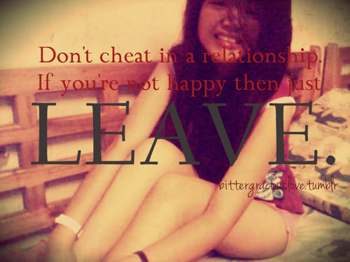 Don't Cheat In a Relationship ~ Cheating Quote
