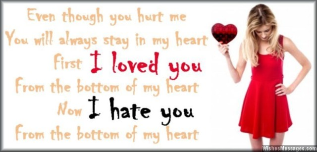 Even Though You Hurt Me you Always stay In Muy heart First i Loved you From The Bottom Of My heart Now I ahte You. - Cheated Quotes