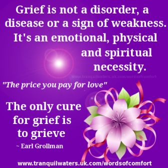 Grief is not a Disorder, a disease or a Sign of Weakness. It's an Emotional, Physical And Spiritual Necessity.. - Earl Grollman